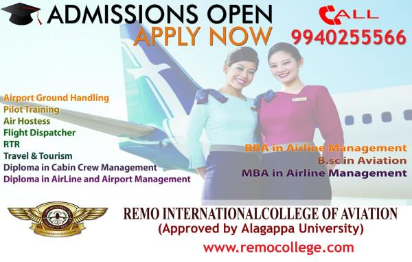 Aviation Courses in Chennai RICA has become very popular among top aviation companies, airliners, Chartered flight companies, Flight operation companies, Travel & Tourism companies within India as well as abroad to place the students in various designations. Also it has gained tremendous reputation in the Domestic Market & International Market as a skilled human resource provider in this industry. For Aviation Courses join Remo International College Of Aviation.