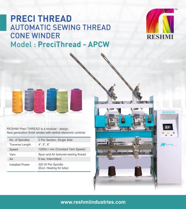 Reshmi Thread Winding Machine Automatic Cone Winding Machine - PreciThread Cone Winding Machine manufacturer in India