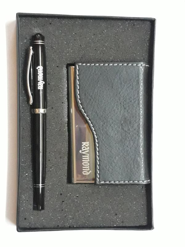 DWM 103 Metal Pen And Metal Card Holder Gift Set. It is most known Corporate Gift Set. It is more powerful set to promote your brand or it can used as Personalized Gift. It Is available in stock at Dewani Pen Products , Malad (W),  Mumbai , India.