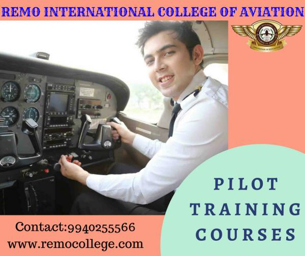 Pilot Training in Chennai If you belong to the sky, come to Remo international College Of Aviation, the aviation specialist for more than 12 years for the Pilot courses that provides the wind to your wings and aspirations.  The demand for the pilot license holders is again growing stronger and the aspirants can now actually see their dreams flying to reality. For admission contact us @9940255566.