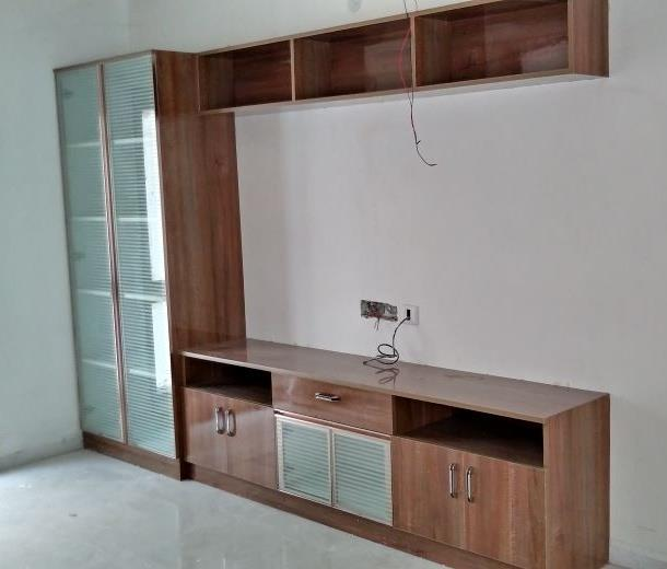 TV unit with book rack
