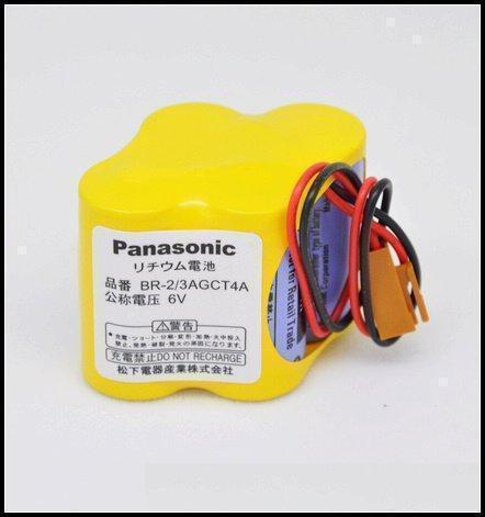 BR 2/3 AGCT4A  Panasonic Battery  for Fanuc  Control CNC Machines  PREMIER ENGINEERS -  CNC Machines Sales and Service Providers Offers BR 2/3 AGCT4A  Panasonic Battery  for Fanuc  Control CNC Machines  Description:  The main features of this series of batteries are long time micro current, stable working voltage and good safety.   With Wire Leads Connector, 6 Volts 2400mah Lithium, PLC Programmable Logic Controller Battery   Specifications -  Part Number: BR-2/3AGCT4A  Volts: 6  Capacity: 2400mAh  Chemistry: Lithium  Contacts: Wire Leads Connector  Dimensions -  Hight: 1 3/8in , Width: 1 1/4in, Length: 1 5/8in   Product details -  Fanuc System Battery  BR 2/3 AGCT4A  Panasonic Battery This is a 4 cell lithium battery designed to work in Fanuc  series  CNC Machines.  Low self discharge rate gives this cell a 10 year shelf life.  Stable voltage and broad temperature range (-60° to +85°C).