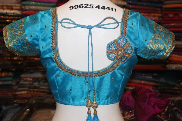 Blue Zari And Stone Work Embroidery Blouse at Fabloon Fashion Boutique and Embroidery Blouse Tailors    boutique summer dresses boutique maxi dresses womens boutique boutique clothing