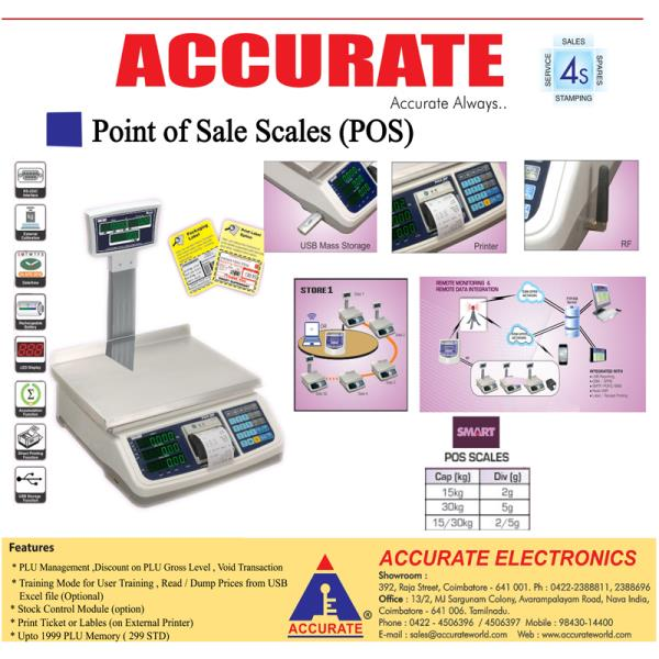ACCURATE - PAX – POS Series  Meat Weighing, Dairy Weighing, Vegetable Weighing, Fruits Weighing Bakery Weighing, Retail Weighing, Packing Weighing, Hardware Weighing, SuperMarket Weighing, Bills Printing Weighing Receipt Printing Weighing, USB Storage Weighing, RS232 Weighing GSM Weighing, GPRS Weighing, 15kg Weighing, 30kg Weighing  Report printing Weighing, Scales, Accurate Weighing Accurate Scale  To Know more Click here : https://goo.gl/zD7HJ7 Contact: 98430 23112 / 98437 47667
