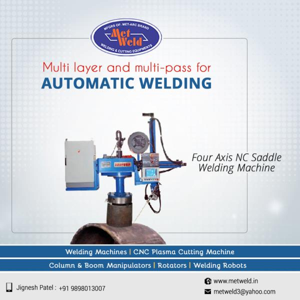 Kaiyuan's Four Axis NC Saddle Welding Machine supplied by Metweld performs well with multi-layer and multi-pass technology for automated welding operations.   #Four-Axis-NC-Saddle-Welding-Machine #Four-Axis-NC-Saddle-Welding-Machine-Suppliers-in-Ahmedabad  #Four-Axis-NC-Saddle-Welding-Machine-Exporters-in-Ahmedabad  #Four-Axis-NC-Saddle-Welding-Machine-Dealers-in-Ahmedabad
