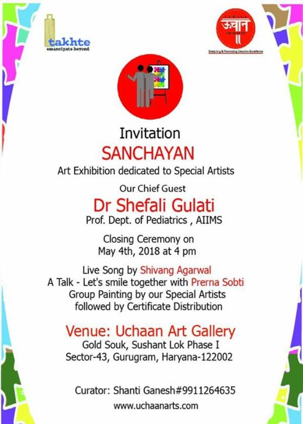 A special personal invite to all ...please do not forget tomorrows very important event at 4 pm in Gold Souk mall, showing your support for the noble cause...Uchaan team is eagerly waiting to meet our participants as well as guests showing support to the budding artists...show timing 4 pm to 5pm sharp....please come with all your family members to make this program memorable n enjoyable🙏 Regards Shanti Ganesh Team Uchaan