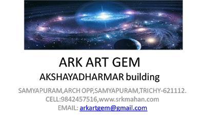 arkartgem NUMEROLOGY, VASTHUST VIJAY TV FAMOUS  AKSHAYADHARMAR, B.SC., M.A., M.PHIL., DNYT  SAMYAPURAM, ARCH OPP, SAMYAPURAM, TRICHY-621112 EMAIL: akshayadharmar@gmail.com  WEB: www.akshayadharmar.blogspot.in Cell no : 04312670755 , 9842457516 , 8524926156  இரத்தினங்கள் மருத்துவ குணம் கொண்டவை (GEM THEROPY) அனைத்து அதிர்ஷ்டக்கற்களும் கிடைக்குமிடம் மொத்த விலைக்கே சில்லறையில் கிடைக்கும் .  GEM THERAPY இரத்தினங்கள் மருத்துவ குணம் கொண்டவை. இரத்தினங்கள் மணிகளாக உருட்டி மாலையாக அணிந்துக் கொள்கின்றனர். ஒவ்வொரு இரத்தினதிற்கும் ஒரு மருத்துவ குணம் உள்ளது. குறிப்பு: இதை உடம்பின் மேல் மாலையாகவோ, ஆபரணங்களில் பதித்து அணியலாம். சாப்பிடக்கூடாது. இரத்தினங்கள் 2. வகையாக பட்டை தீட்டப்படுகிறது. 1. Cutting Method  2. Cabochon Method ஒரு மெருகேற்றப்பட்ட கல் கிடைப்பதற்கு 6 விதமான வழிகள் (6 Steps) 6 விதமான நபர்களின் உழைப்பும் தேவைப்படுகிறது. 1. Mining Raw Material - தளங்களை சேகரிப்பவர் 2. Analyzing - கிடைத்திருக்கும் மூலப்பொருள் எந்த வகை இரத்தினத்தை சேர்ந்தது என மதிப்பிடுவர். 3. Cutting - கிடைக்கும் இரத்தினத்தை சரியான அளவில் வெட்டுபவர். 4. Preforming - வெட்டிய கற்களை சரியான அளவில் உருட்டுபவர். 5. Polishing - உருட்டிய கற்களை மெருகேற்றுபவர். 6. Quality & Marketing - மெருகேற்றிய கற்களை தரம் பிரித்து விற்பனை செய்வர். CABOCHON METHOD: நத்தை ஓடு போல் இது மெருகேற்றப்படுகிறது. Moon Stone, Sun Stone, வைடூரியம் (Cast Eye), Star Ruby, Star Sapphire  போன்ற கற்களின் மேல் நூல்கள் (Rays) வெளிப்படும். Cabochon  முறையில் மெருகேற்றப்படுவதால் Rays சிறப்பாக அதன் மேல் பாகத்தில் தெரிய வாய்ப்பாக உள்ளது. 1.1 நூல் கல் - Single Rays 2.4 நூல் கல் - Four Rays 3.6 நூல் கல் - Six Rays மூன்று வகையான கற்கள் (Cabochon Method - ல் பாலீஷ் செய்யபடுகிறது. கற்களை மூன்று வகையாக பிரிக்கின்றனர். 1. Super Precious Stone. 2. Precious Stone  3. Organic Gems நவரத்தினம் என 9 வகையான கற்களை நாம் உபயோகிக்கிறோம். மேலை நாடுகளில் 1. வைரம் 2. மாணிக்கம் 3. புஷ்பராகம் , 4. மரகதம் 5. வைடூரியம் . இந்த ஐந்து வகையான கற்களை விலைமதிப்புமிக்க தரமான கற்களாக (International Standard) (Super Precious) என அங்கீகரித்துள்ளார்கள். 128 - க்கும் மேற்பட்ட கற்கள்