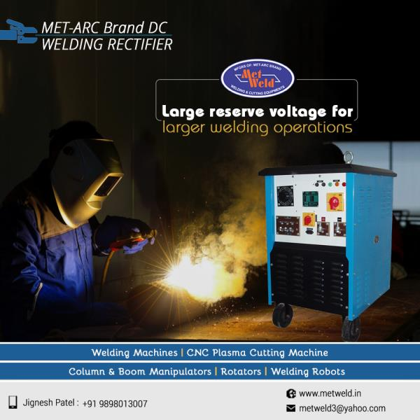 MET-ARC Brand DC WELDING RECTIFIER by Metweld has a large reserve voltage which permits longer welding cable for better performance in long welding operations.   #DC-Welding-Rectifier  #DC-Welding-Rectifier-Manufacturers  #DC-Welding-Rectifier-Manufacturers-in-Ahmedabad  #DC-Welding-Rectifier-Manufacturers-in-Gujarat  #DC-Welding-Rectifier-Manufacturers-in-India
