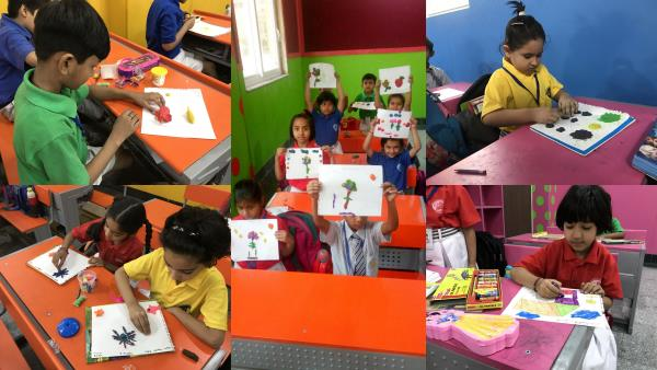 """Clay is a great activity for kids imaginations.  """"Fun With molding Clay"""" activity  was held in Euro International School sector-109 on 4th May 2018. This activity gives children many opportunities to be creative and helps kids develop social skills as they sit together sharing clay. All the students enjoyed the activity."""
