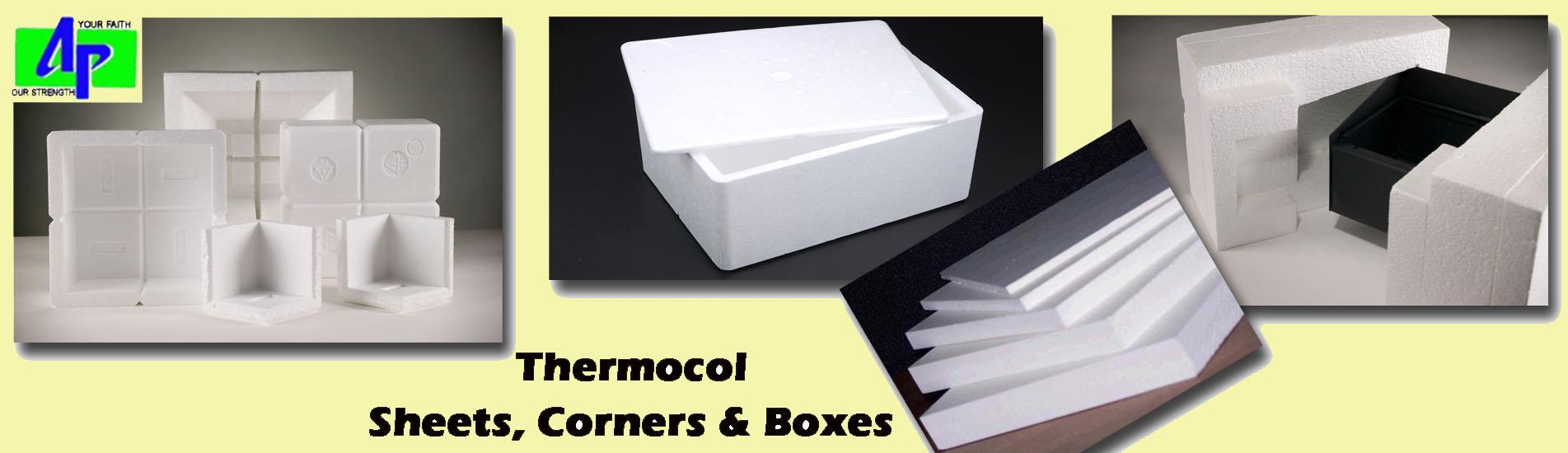 Arihant Packaging the leading manufacturer & supplier of Thermocol Packaging....from Jaipur, Rajasthan, India....   One of the protective packaging method... Thermocol Packaging ......  Thermocol Sheets, Thermocol Boxes & Thermocol Corners...   Mainly used for packaging of delicate & semi fragile items, which makes Thermocol Packaging a one of the best material for protective packaging...   Now a days also used in False Ceiling and Under Ceiling to avoid external radiation, best packaging solution with sound proofing & heat insulation..... It is very light weighted & very easy to carry...   Best Quality Packaging Material Provider Arihant Packaging... From Jaipur, Rajasthan, India....