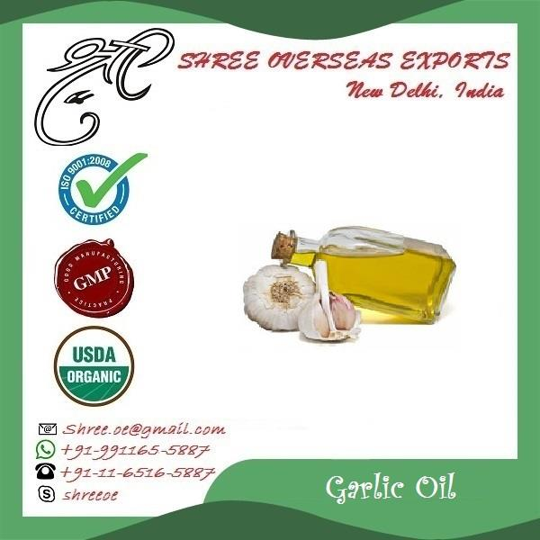 Best Garlic oil importers in Kent, United Kingdom | Best manufacturers of Garlic oil | Shree overseas exports  Garlic oil is fundamentally either steam distillation of fresh, crushed garlic cloves or absorbed cleaved garlic vegetable oil. The steamed refining of garlic cloves is more costly at that point chopped garlic in ordinary regular oil, in both ways the impact of garlic continues as before and is similarly useful. Garlic oil keeps your heart sound as well as it helps your whole body. Garlic oil if presented in regular eating routine will keep your body from numerous ailments and you keep up a solid heart and a solid resistant framework which implies assurance from colds, flues, flu, malignancy, irritation and gastrointestinal issues.   Garlic oil when connected topically will help with a considerable measure of skin issues like athelets foot, skin disturbances and so forth. Garlic can have some antagonistic impacts likewise if taken in overabundance however when utilized suitably, garlic benefits exceed the dangers.  -> No MOQ (Minimum order quantity). -> Private packaging  -> Fully certified  -> Anywhere in World  -> By ship by air both