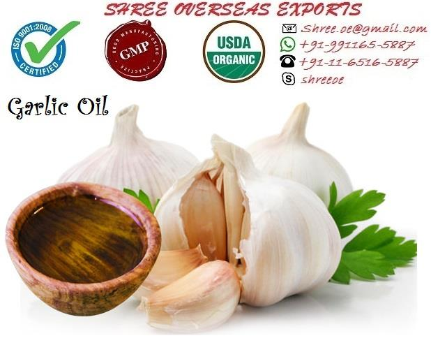 Best Garlic oil importers in London, United Kingdom | Best manufacturers of Garlic oil | Shree overseas exports | Most selling product of the year  Garlic oil is fundamentally either steam distillation of fresh, crushed garlic cloves or absorbed cleaved garlic vegetable oil. The steamed refining of garlic cloves is more costly at that point chopped garlic in ordinary regular oil, in both ways the impact of garlic continues as before and is similarly useful. Garlic oil keeps your heart sound as well as it helps your whole body. Garlic oil if presented in regular eating routine will keep your body from numerous ailments and you keep up a solid heart and a solid resistant framework which implies assurance from colds, flues, flu, malignancy, irritation and gastrointestinal issues.   Garlic oil when connected topically will help with a considerable measure of skin issues like athelets foot, skin disturbances and so forth. Garlic can have some antagonistic impacts likewise if taken in overabundance however when utilized suitably, garlic benefits exceed the dangers.  -> No MOQ (Minimum order quantity). -> Private packaging  -> Fully certified  -> Anywhere in World  -> By ship by air both