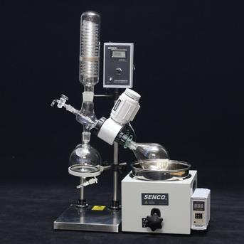 ROTAVAP SENCO ROTARY EVAPORATOR  SENCO Rotary Evaporators are developed by sticking to the basics, keeping in mind safety of the user and focusing on giving desired results. They enable to achieve desired results affordably and are backed by trustworthy service. The Industrial Rotary Evaporator is simple yet accurate, basic yet precise, up to the mark on performance and friendly on budget.  These Rotary Evaporators are used for a variety of applications including:  Concentration Drying Refining Separation Crystallization