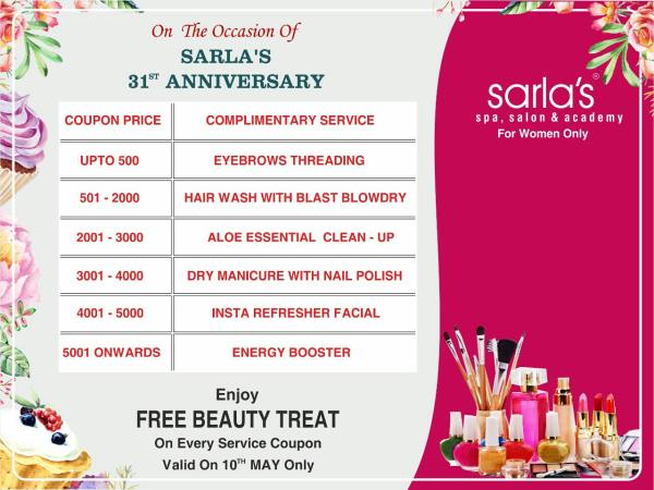 Sarla Spa Salon Celebration 31st Anniversary. - by Sarla's Spa & Salon, Thane