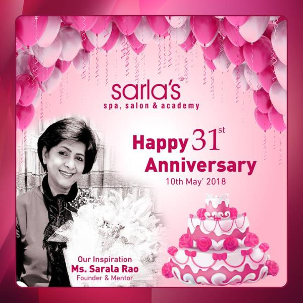Join the Celebration of Sarla's 31st Anniversary today. - by Sarla's Spa & Salon, Thane