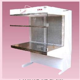 aminar Air Flow in Bangalore <br/><br/>Vertical Laminar Flow Cabinet from top to down stream through the inverted HEPA filter placed on the top of the work space, working table is made with satin finish stainless steel top. The inner cabinet is made with marine plywood and outer covering is made with C.R sheet duly powder coated, front door with transparent acrylic provided with counter weight attachment for sliding operation and keep the door at required level. Sides of the cabinet is paneled with poly carbonate transparent sheet. Fitted with all standard accessories such as U.V. germicidal light, fluorescent light, provided cock for as gas/air, pre filter & HEPA filter, inclined pressure manometer