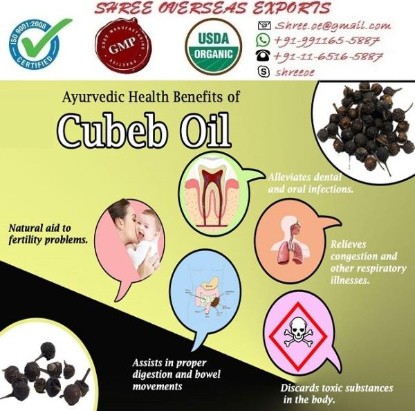 Exporter and Manufacturer of Cubeb oil in London, United Kingdom | Shree Overseas Exporter. In Shree Overseas Exports it has peppery aroma. Cubeb botanical name is Piper Cubeba, Piperaceae. Cubeb oil has yellow color with Spicy and camphoraceous odor. Shree overseas exports is exporting best quality of Cubeb oil. With private labeling.