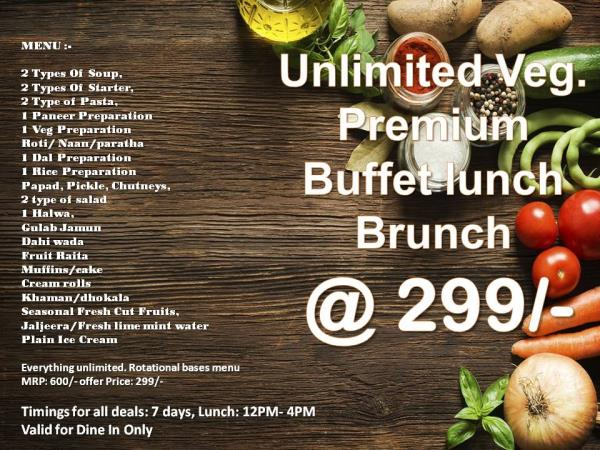Now Enjoy your Stay with Unlimited Lunch Offer at Super Inn Armoise Hotel, Grab the Unlimited Premium Veg Buffet Lunch at just Rs 299. <br/><br/>For bookings and more details <br/>Call now or drop your message below