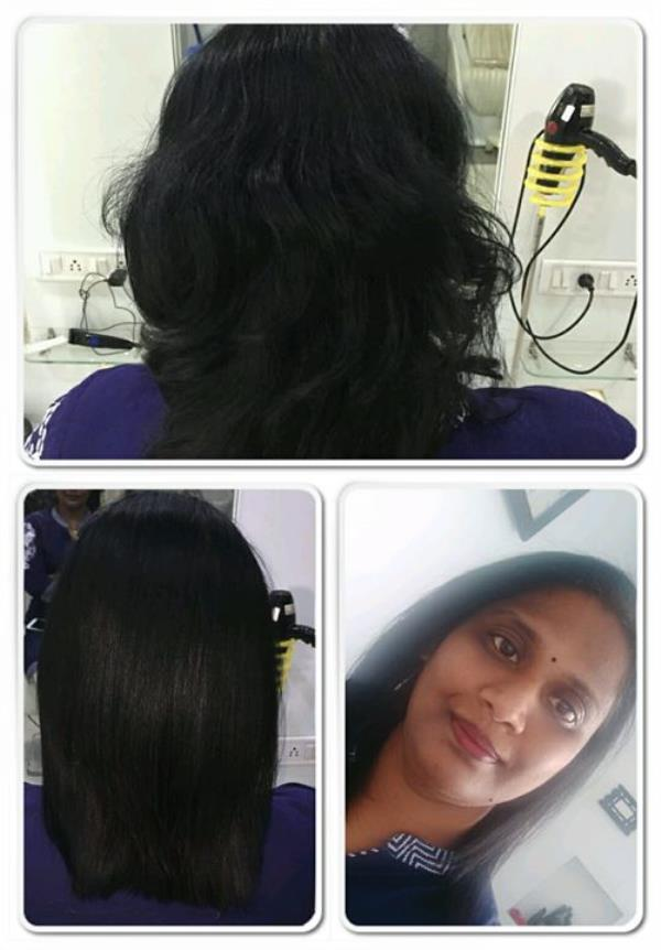 Today keratin treatment done at our outlet