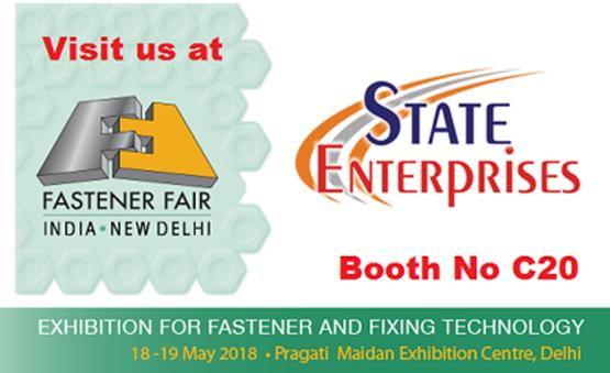 See you at FASTENER FAIR tomorrow, Pragati Maidan Exhibition Centre , Delhi-Booth No C20,  18-19 May 2018
