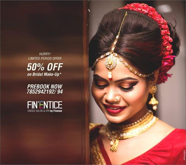 50% OFF ON BRIDAL BOOKING