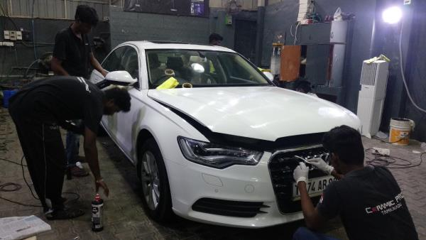 Audi A6 is under paint co