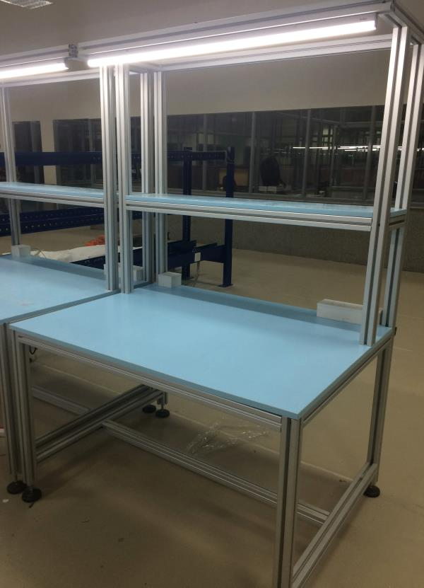 Mobile assembly table  Mobile assembly table is manufactured as per customer needs. Assembly tables are used in German Rexroth aluminium profiles. Assembly table is best and strange for assembly application.