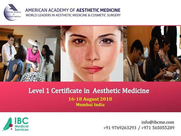 Book your seat now! Only few days left to get AAAM Certification. Certificate Course in Aesthetic Medicine Level 1 Date 16 - 18 August 2018 in Mumbai, India Sign up https://bit.ly/2jgcJik Course faculty led by Dr. Irijana Rajkovic, World's leading expert from AAAM Contact info@ibcme.com or +919769263293 +971565055289  +971565055292 +201 006 542 006/+201 065 705 478 for more details. #AAAM #Aesthetic #Medicine #Course #Certificate #India