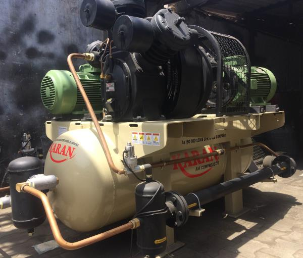 Model No 715TH2 Duplex  40 H P High Pressure Air Compressor  With Water Cool Systems Technical Specifications  Pressure. 25 Bar CFM. 110 Tank Capacity 500 Ltr High Pressure  Water Cool Systems Low Maintenance, Low Power conjuption,  Application for Pet Blowing, Blasting etc If you have any requirement Please freely contact to us. Best Regards  Karan Compressor WhatsApp: +917874001200 Email: karanmicroind@gmail.com Website. www.karanindustriesindia.com