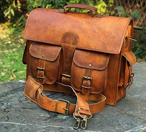 Leather Messenger Laptop Case