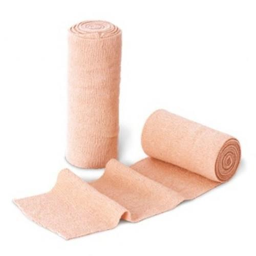 Cotton Crepe BandageThe range of medical bandage, gauze bandages available with us is known for its woven fast edges, thick fabric, better elasticity and controlled, uniform & smooth pressure. These Cotton Crepe Bandage are available in various sizes and can be customized as per specification provided by customers. Our Cotton Crepe Bandages are manufactured using superior quality CE marked cotton, which allows normal skin breathing and does not hamper joint & muscular flexibility. The elasticity is restored by washing in warm water which makes our range highly durable. We manufacture an extensive range of crepe bandage and Cotton Crepe Bandage BP on technologically advanced auto looms. The crepe bandage and Cotton Crepe Bandage offered by us are made of high grade CE marked cotton and are known for their Resh Colour & Woven Fast Edges. These crepe bandage and cotton crepe bandage are available in 100% & 98% cotton.