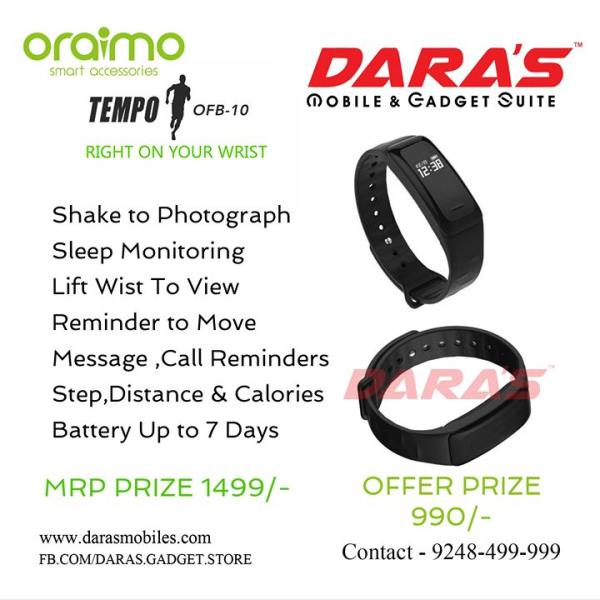 Battery up to 7 days messages, call reminders now available DARAS