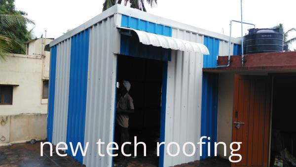 Roofing Contractors we at new tech roofing doing best roofing service for the past 10 years,  we have good experience and skillful workers team. we are doing all type metal and polycarbonate roofing sheds