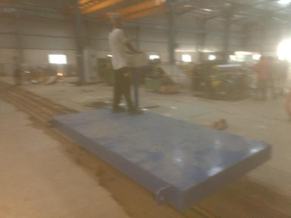 Floor Trolley. Capacity 7.5 Ton. 2 x 3 Mtr. Operated from trolley.  80 Mtr Travelling.  We are the leading manufacturer of EOT Crane, Floor Trolley, Pre Engineered Building and PEB Structure in Vadodara Gujarat.