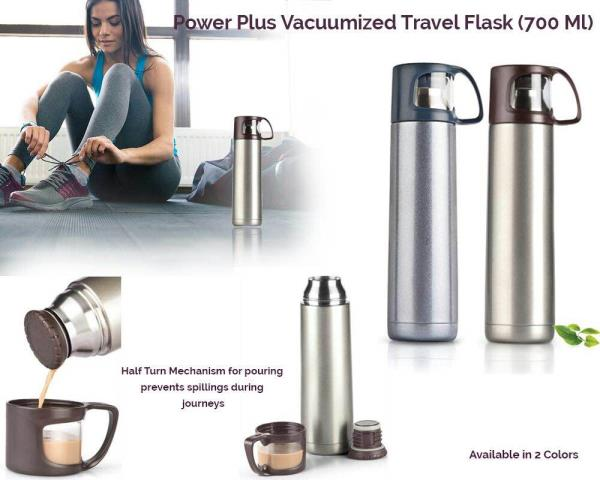 Leading suppliers of Travel Flask in Mumbai  Our new and Stylish tea/coffee flask is a great travel accessory. The dual wall stainless steel body keeps the liquid hot/cold for upto 12 hours. The cap of the flask doubles up into a cup. The travel flask comes in two colours grey and brown. It's light and easy to carry and made of food grade material. It has ample space for branding and this makes it a perfect corporate gifting product.  Giftt hub has a wide variety of good quality travel flask in different colours and different features. We also have the fruit infuser travel flask, travel flask with automatic opening cap and many more designs.  For bulk queries contact us at hello@giftthub.com