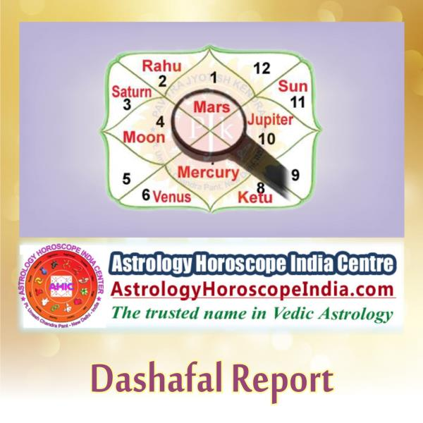 elhi:Plan your life in a wise and constructive way using Dashafal report. Prepared by a veteran astrologer, the report includes all essential guidelines and tips to help you plan your current and future events properly. Get it now: http://astrologyhoroscopeindia.com/dasha-analysis/p26#DashafalReport