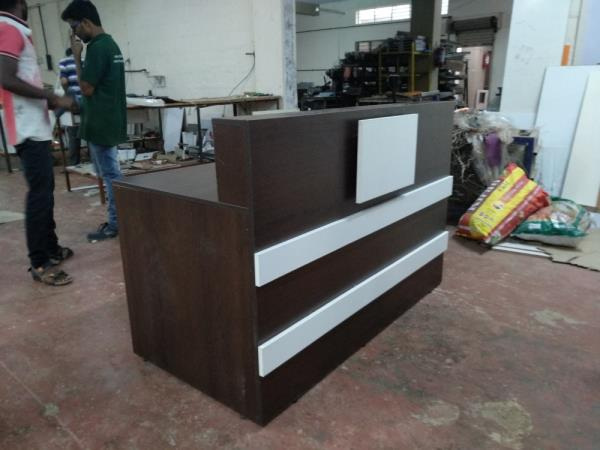 Leaf furniture Pvt Ltd Modular reception table manufacturers in Bangalore