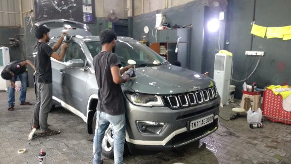 Jeep Compass under hard-core paint  Ceramic Pro with 9h hard  The world's leading Nanoceramic coating.  For More Info:  Call us:9500877273 9790901962  9003111248.,  Mail us: chennai@ceramicpro.co.in  Ceramic Pro 9H is ain't typical sealant/wax  available in the market. It's based on Ceramic  Nanotechnology with advanced Ko R& D. Thus,  not all the coating system are created equal and  to be benchmark with Ceramic ProGO  Ceramic Pro offers:  oSuper Hydrophobic Effect  oWeather & UV Resistance  Thermal Resistance (up to 1200°C)  oScratch Resistance (Above 9H)  Antj-Graffiti  Advanced Chemical Resjstance  Oxidation & Corrosion Resistant  High Gloss Finish  Self-cleaning Effect  Chemical Resistance  Prevents Water Spotting  #best #luxurycars #Original #9H #Permanent  #protection #cars #sgs #glasscoatings  #veelog #ecr #tamilnadu #India #carporn  #sgscertified #ceramicproindia #chennai  #worldno1#superhydrophobic tceramiccoatin  Get Coated with WORLD's No. 1 Ceramic Pro 9H  Certified ceramic coating  Superior Gloss and Shine  Permanent Paint Protection  Nano Ceramic Coating  Scratch Resistant  UV Resistant  Chemical Resistance  Ceramic Coating  SuperHydrophobic  Ceramic Pro Chennai  ceramic coating in chennai  ceramic glass coating  glass coating  cars & bikes