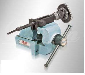 4.BEARING PULLER VICE  This is a unique combination of bearing puller and bench vice. It's aspeciality tool designed for removing bearings from the armature shafts of portable power tools like marble cutter, grinders. Even a child can remove the struck bearing, without damaging the armature shaft. KEY BENEFITS Rear jaw sliding. Dove tail sliding guide ways. Steel forging Nut. Long lasting thread rolled screw. Can remove bearings without using hammer and screwdrivers. Jala Sales- Clamping solutions, Suppliers of bearing puller vice in Pune.