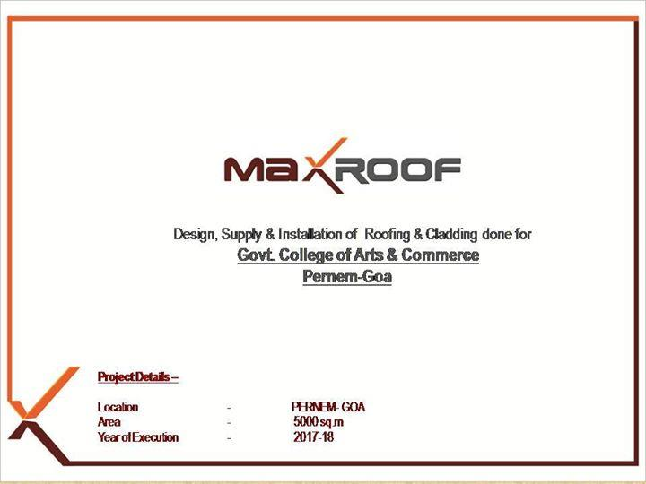Roof design, supply