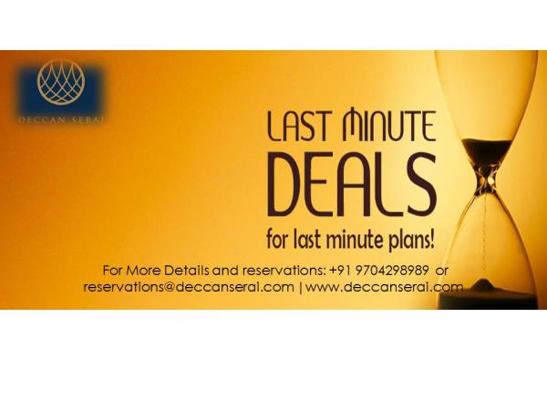 Last minute deals for last minute planners