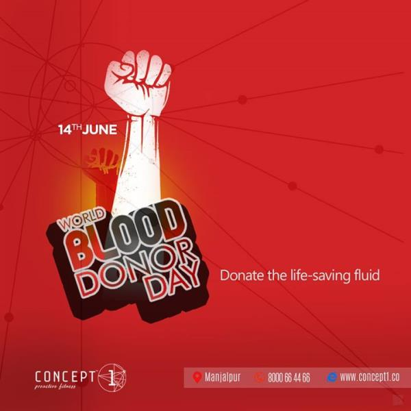 Donate the life-saving fluid World Blood Donor Day..! #Concept1 #ProactiveFitness #Fitness #Gym #Strength #World #Blood #Donor #Day