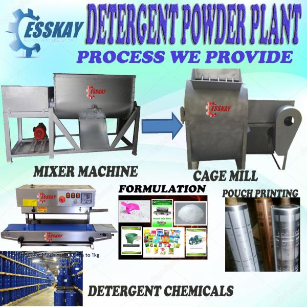 Detergent Powder  Making Plant  We Provide our Customer Each and Everything required in making Detergent Powder.we cover machinery part along with Packing Machine with packing material printing, Trade Mark, Chemical Formulation, Chemical Knowledge In Last Full Plant Consultancy. In Machinery Part we give 2 machines in Different Size as per Customer Budget and how much production he want per day.  1. Detergent Mixer Machine   100kg Size (Smallest) in Ms Body & SS Body 200kg Size (Medium) in Ms Body & SS Body 300kg Size  in Ms Body & SS Body  2. Cage Mill (Channa.Screaning )Machine 100kg -Size (Smallest) in Ms Body  200kg Size (Medium) in Ms Body   Packing Machine :- 1.BandSealing Machine SS & MS Body upto 1kg Packing  2.Full Automatic (Optional)  Trade Mark:  This registration done by our Vendor with Minimum Price .  Pouch Designing: Our Consultancy team also help  to make Proper Design wil HD Quality Image and also make a extra orginary slogan  for customer's Brand   Pouch Printing: This is also the main part  we cover because most of the people confuse that how to make designer pouch, We will help to make WorldClass printing in a minimum Rates.  Chemicals: We are whole Sale Supplier of Chemicals  List of Chemicals (For Knowledge Purpose)  •'AOS  • SODA ASH    • LABSA   • DOLOMITE    • DNS   • SS   • OB   • CBSX     • PERFUM So all These and also many more chemicals, we will provide you to make best Quality Material in Minimum Price   Lab Testing and Tit ration of Product  In Our Company, We will Lab test the product along with trained you to get the Tit ration system, So that you can test and check the quality of product which you are making in your Factory.  Chemical Consulatansy : The Main and Important part  of our Concept that is Consultancy, In which we  will give you a knowledge at every aspect of making and devlop a new product which is going to be new Brand in the Future Market, also provide site visit facility so that you can make your product by your own.You no need to depend upon anyone. So All in all Our