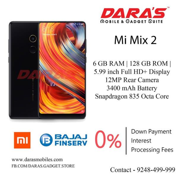 Mi mix 2 6 gb ram and 128 gb rom 3400 mah battery now available at DARAS