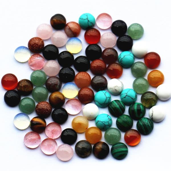 Cabochon<br/>We at Art Group are Cabochon manufacturers in Delhi. Cabochon refers to a bead that has been shaped and polished to create a smooth, convex top with a flat bottom. Because the bottom of Cabochon cut stones are flat, they can be glued into place, rather than