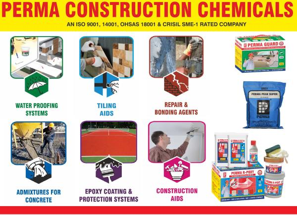 If you required Liquid Concrete Admixture Construction Chemical , Crystalline Waterproofing Powder , Cementitious waterproofing Powder & waterproofing Compound powder to make your construction strong you can send us an inquiry for the same. We are leading manufacturer of Construction Chemicals in India. We can supply Liquid Chemicals for construction & Powder based Chemicals for Construction . If you required PERMA CONSTRUCTION CHEMICALS in India , Sri Lanka ,Nepal , Ghana for making waterproof construction. You can send us an inquiry through our website. All products are available on our website www.permaindia.biz . You can contact us on info@permaindia.com