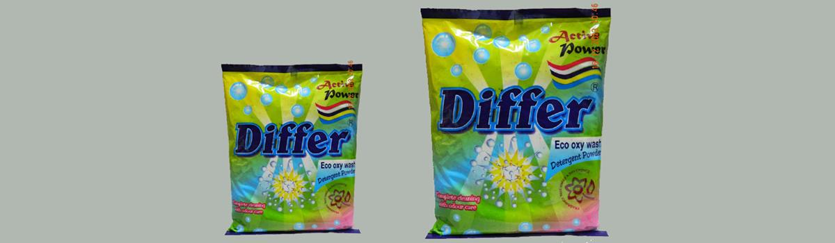 Differ Oxy Wash a premium quality Washing powder suitable for Top Load Washing Machine or Bucket wash. Eco Oxy Wash has unique & powerful formula & use as photo catalyst against all stain which can be oxidized by activated OXYGEN. For getting better result of Differ Eco. Oxy Wash, keep for 10 minutes in warm water& than soak the cloths.
