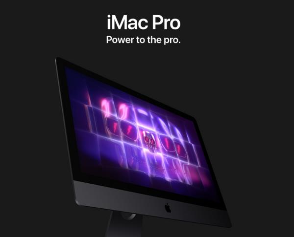 iMac Pro Power to the pro. Pros love iMac. So we created one just for you. It's packed with the most powerful graphics and processors ever in a Mac, along with the most advanced storage, memory, and I/O — all behind a breathtaking Retina 5K display in a sleek, all-in-one design. For everyone from photographers to video editors to 3D animators to musicians to software developers to scientists, iMac Pro is ready to turn your biggest ideas into your greatest work. Up to 18 cores in an iMac. No, that's not a typo. An iMac with 4 cores is remarkable enough. But an iMac with 8, 10, 14, or 18 cores is an entirely different creature. Add Turbo Boost speeds up to 4.5GHz, and iMac Pro has the power and flexibility to balance multicore processing with single-thread performance. With new AVX-512 vector instructions and a new cache architecture, the processor handles even more data — even more quickly. Which means you can render images, edit up to 8K video, manipulate photos, create real-time audio effects, or compile your next five-star app — all at lightning speed. 8-, 10-, 14-, or 18-core Xeon processor Turbo Boost up to 4.5GHz Up to 42MB cache Particle simulation? Elementary. Billowing smoke. Torrential rain. A wheat field in the wind. With up to 18 cores and Hyper-Threading, iMac Pro lets you build and render particle systems of all kinds — static or animated, 2D or 3D — with ease. Vega graphics. The beast behind the beauty. Featuring Radeon Pro Vega graphics, iMac Pro delivers the best workstation-class graphics of any Mac. The first Mac with Vega architecture features up to 16GB of High Bandwidth Memory, which helps deliver a major jump in performance — up to two times faster than any other iMac GPU and up to three times faster than the GPU in Mac Pro. This translates to higher frame rates for VR, real-time 3D rendering, more lifelike special effects, and gameplay at max settings. It also supports both single- and half-precision computing, so operations that don't require a full 32 bits of precision can be performed twice as fast. How fast? Up to 22 teraflops fast. On-package HBM2 replaces external VRAM, so the GPU can fetch data at up to 400GB/s. Radeon Pro Vega 56 or 64 Up to 11 teraflops single precision Up to 22 teraflops half precision 8GB or 16GB High Bandwidth Memory 400GB/s memory bandwidth Gravity Sketch Unity Twinmotion Unreal Editor Virtual reality gets real. With the new Vega GPU, iMac Pro lets you do more than just immerse yourself in VR worlds. It lets you create them from scratch. Strength in numbers. iMac Pro is optimized for performance across the board. Here's how it compares to iMac and Mac Pro. Autodesk Maya 2018 18-core iMac Pro 2.2x 10-core iMac Pro 1.5x 12-core Mac Pro 4-core iMac (Baseline) 3.4x faster Arnold render 1 Maxon Cinema 4D iMac Pro Radeon Pro Vega 64 0.6x Mac Pro FirePro D700 iMac Radeon Pro 580 (Baseline) 1.8x faster real-time 3D performance 2 Build Time 18-core iMac Pro 1.9x 10-core iMac Pro 1.2x 12-core Mac Pro 4-core iMac (Baseline) 2.4x faster build: Clang, LLVM, and compiler-rt using Ninja 3 OsiriX MD iMac Pro Radeon Pro Vega 64 1.0x Mac Pro FirePro D700 iMac Radeon Pro 580 (Baseline) 5.1x faster 3D volume render 4 Wolfram Mathematica 18-core iMac Pro 1.9x 10-core iMac Pro 1.5x 12-core Mac Pro 4-core iMac (Baseline) 2.8x CPU benchmark 5 Adobe Photoshop CC 18-core iMac Pro 1.8x 10-core iMac Pro 0.7x 12-core Mac Pro 4-core iMac (Baseline) 2.3x processing of well-threaded filters 6 Pixelmator Pro iMac Pro Radeon Pro Vega 64 0.2x Mac Pro FirePro D700 iMac Radeon Pro 580 (Baseline) 4.1x faster effects render 7 Logic Pro X 18-core iMac Pro 3.7x 10-core iMac Pro 1.5x 12-core Mac Pro 4-core iMac (Baseline) 4.6x faster offline bounce 8 Logic Pro X 18-core iMac Pro 8.3x 10-core iMac Pro 1.8x 12-core Mac Pro 4-core iMac (Baseline) 12.4x higher Sculpture track count 9 Final Cut Pro X 18-core iMac Pro 2.3x 10-core iMac Pro 1.4x 12-core Mac Pro 4-core iMac (Baseline) 2.8x faster render speed 10 Compressor iMac Pro Radeon Pro Vega 64 iMac Intel Media Engine 3x faster 8-bit HEVC export 11 More memory for massive projects. With four channels of memory, iMac Pro can accommodate up to 128GB. So you can visualize, simulate, and render huge 3D models. Create multiple test environments for cross-platform development. And keep numerous apps open at the same time. It's all powerful. For all the things you want to do. Up to 128GB 2666MHz DDR4 ECC High-performance storage. Load faster. Launch faster. Up to 4TB of all-flash storage lets you work on large 4K and HD projects regardless of codec. And with up to 3GB/s throughput, loading huge files and launching apps is faster than ever. Up to 4TB SSD 3.3GB/s write performance 2.8GB/s read performance T2. Enhanced integration and security. Introducing the Apple T2 chip, our second-generation custom Mac silicon. By redesigning and integrating several controllers found in other Mac systems — like the system management controller, image signal processor, audio controller, and SSD controller — T2 delivers new capabilities to the Mac. For instance, the T2 image signal processor works with the FaceTime HD camera to enable enhanced tone mapping, improved exposure control, and face detection–based auto exposure and auto white balance. T2 also makes iMac Pro even more secure, thanks to a Secure Enclave coprocessor that provides the foundation for new encrypted storage and secure boot capabilities. The data on your SSD is encrypted using dedicated AES hardware with no effect on the SSD's performance, while keeping the Intel Xeon processor free for your compute tasks. And secure boot ensures that the lowest levels of software aren't tampered with and that only operating system software trusted by Apple loads at startup. Video performance artist. iMac Pro has the bandwidth to effortlessly handle multiple streams of video. And with up to 4TB of all-flash storage, saving and loading humongous projects is all in a moment's work. Serious I/O. For serious work. As you'd expect from a pro machine, there are plenty of high-speed ports to create a high-performance workstation. Four Thunderbolt 3 ports let you connect two 5K monitors — for 44 million pixels total — and transfer data at a blazing 40Gb/s. And there's something you probably didn't expect in an iMac: 10Gb Ethernet. So sharing files between desktops, or working with high-performance network storage, is up to 10 times faster. 40Gb/s Thunderbolt 3 Four Thunderbolt 3 ports. Supports USB 3.1 and DisplayPort video output over USB-C. Up to 44 million pixels 5K display with the option to connect two additional 5K displays. 10Gb Ethernet Also supports Nbase-T industry-standard 1Gb, 2.5Gb, and 5Gb link speeds. See your work on the big screens. Create a powerful workstation by connecting two RAID systems and two 5K displays to the four Thunderbolt 3 ports. Then see your work on a 44-million-pixel canvas. Retina 5K display. Dream in a billion colors. It almost goes without saying: If it's an iMac, it will have a gorgeous display. And iMac Pro doesn't disappoint. In fact, its 27-inch screen is our best ever, with 500 nits of brightness across its 14.7 million pixels. It's as if the sleek, all-in-one design disappears behind the stunning screen — so you can focus on your content. Along with P3 color and support for a billion colors, iMac Pro delivers spectacular, true-to-life images. 500 nits 43% brighter One billion colors Supports 10-bit spatial and temporal dithering. Reveal your true colors. A billion colors on your display means every photo appears just the way it was shot, with supersmooth gradients and vastly reduced banding. All-in-one design. More creative freedom. iMac Pro puts the power of a workstation behind a stunning Retina 5K display, in a sleek enclosure just 5 mm wide at its edge. With your whole system powered by a single cable, your workspace stays free of clutter. It's a beautifully efficient design that lets you focus all your attention on what you're creating — not what you're creating with. Advanced thermal management. Cool. Packing all that performance into such a slim all-in-one design required a new approach to cooling the system. We redesigned the thermal architecture of iMac Pro with innovative dual blowers, a high-capacity heatsink, and extra venting. The result? Almost 75 percent more airflow and an 80 percent increase in system thermal capacity. Which lets iMac Pro handle 500 watts — 67 percent more power than the 27-inch iMac. All-new speakers. Make some noise. The enhanced stereo speakers in iMac Pro deliver broad frequency response, rich bass, and more volume. So you'll be able to hear that crashing cymbal, multilayered effect, or sample-based sound, all with remarkable fidelity. And with four beamforming mics, your voice is heard loud and clear over any background noise. Accessories with a dark side. New Space Gray accessories to match your iMac Pro — wireless, rechargeable, and beautiful. The new Magic Keyboard includes a numeric keypad, and to go with it you can choose either the Magic Mouse 2 or the Magic Trackpad 2. iMac Pro Pushed to the limit by six visionary artists. Testing conducted by Apple in November 2017 using preproduction 2.3GHz 18-core Intel Xeon W-based 27-inch iMac Pro systems with 128GB of RAM and preproduction 3.0GHz 10-core Intel Xeon W-based 27-inch iMac Pro systems with 64GB of RAM, both configured with Radeon Pro Vega 64 graphics with 16GB of HBM2; and shipping 4.2GHz quad-core Intel Core i7-based 27-inch iMac systems with Radeon Pro 580 graphics with 8GB of VRAM, as well as shipping 2.7GHz 12-core Intel Xeon E5-based Mac Pro systems, attached to an external 5K display, with dual AMD FirePro D700 graphics with 6GB of VRAM each, both configured with 64GB of RAM. Autodesk Maya 2018 tested using a 399.6MB scene. Performance tests are conducted using specific computer systems and reflect the approximate performance of iMac Pro, iMac, and Mac Pro. Testing conducted by Apple in November 2017 using preproduction 2.3GHz 18-core Intel Xeon W-based 27-inch iMac Pro systems with 128GB of RAM and configured with Radeon Pro Vega 64 graphics with 16GB of HBM2; and shipping 4.2GHz quad-core Intel Core i7-based 27-inch iMac systems with Radeon Pro 580 graphics with 8GB of VRAM, as well as shipping 2.7GHz 12-core Intel Xeon E5-based Mac Pro systems, attached to an external 5K display, with dual AMD FirePro D700 graphics with 6GB of VRAM each, both configured with 64GB of RAM. Tested with Cinema 4D R19.024 using a 1.98GB scene; polygon count = 60 million. Performance tests are conducted using specific computer systems and reflect the approximate performance of iMac Pro, iMac, and Mac Pro. Testing conducted by Apple in November 2017 using preproduction 2.3GHz 18-core Intel Xeon W-based 27-inch iMac Pro systems with 128GB of RAM and preproduction 3.0GHz 10-core Intel Xeon W-based 27-inch iMac Pro systems with 64GB of RAM, both configured with Radeon Pro Vega 64 graphics with 16GB of HBM2; and shipping 4.2GHz quad-core Intel Core i7-based 27-inch iMac systems with Radeon Pro 580 graphics with 8GB of VRAM, as well as shipping 2.7GHz 12-core Intel Xeon E5-based Mac Pro systems, attached to an external 5K display, with dual AMD FirePro D700 graphics with 6GB of VRAM each, both configured with 64GB of RAM. Testing performed using Xcode 9.1 (9B55), ninja (v.1.7.2 tag), swift (swift-4.0.2-RELEASE tag), swift-clang (swift-4.0.2-RELEASE tag), swift-llvm (swift-4.0.2-RELEASE tag), swift-cmark (swift-4.0.2-RELEASE tag), swift-compiler-rt (swift-4.0.2-RELEASE tag), and CMake 3.9.4. Performance tests are conducted using specific computer systems and reflect the approximate performance of iMac Pro, iMac, and Mac Pro. Testing conducted by Apple in November 2017 using preproduction 3.0GHz 10-core Intel Xeon W-based 27-inch iMac Pro systems with 64GB of RAM configured with Radeon Pro Vega 64 graphics with 16GB of HBM2; and shipping 4.2GHz quad-core Intel Core i7-based 27-inch iMac systems with Radeon Pro 580 graphics with 8GB of VRAM, as well as shipping 2.7GHz 12-core Intel Xeon E5-based Mac Pro systems, attached to an external 5K display, with dual AMD FirePro D700 graphics with 6GB of VRAM each, both configured with 64GB of RAM. OsiriX MD v.9.0.1 tested using a CT scan dataset with 1300 slices of 512 x 512 voxels. Performance tests are conducted using specific computer systems and reflect the approximate performance of iMac Pro, iMac, and Mac Pro. Testing conducted by Apple in November 2017 using preproduction 2.3GHz 18-core Intel Xeon W-based 27-inch iMac Pro systems with 128GB of RAM and preproduction 3.0GHz 10-core Intel Xeon W-based 27-inch iMac Pro systems with 64GB of RAM, both configured with Radeon Pro Vega 64 graphics with 16GB of HBM2; and shipping 4.2GHz quad-core Intel Core i7-based 27-inch iMac systems with Radeon Pro 580 graphics with 8GB of VRAM, as well as shipping 2.7GHz 12-core Intel Xeon E5-based Mac Pro systems, attached to an external 5K display, with dual AMD FirePro D700 graphics with 6GB of VRAM each, both configured with 64GB of RAM. Tested using Mathematica v11.2.0.0 with built-in benchmark, WolframMark. Performance tests are conducted using specific computer systems and reflect the approximate performance of iMac Pro, iMac, and Mac Pro. Testing conducted by Apple in November 2017 using preproduction 2.3GHz 18-core Intel Xeon W-based 27-inch iMac Pro systems with 128GB of RAM and preproduction 3.0GHz 10-core Intel Xeon W-based 27-inch iMac Pro systems with 64GB of RAM, both configured with Radeon Pro Vega 64 graphics with 16GB of HBM2; and shipping 4.2GHz quad-core Intel Core i7-based 27-inch iMac systems with Radeon Pro 580 graphics with 8GB of VRAM, as well as shipping 2.7GHz 12-core Intel Xeon E5-based Mac Pro systems, attached to an external 5K display, with dual AMD FirePro D700 graphics with 6GB of VRAM each, both configured with 64GB of RAM. Adobe Photoshop 19.0 tested using the crystallize, pointillize, radial blur, shape blur, dust & scratches, and median filters. Performance tests are conducted using specific computer systems and reflect the approximate performance of iMac Pro, iMac, and Mac Pro. Testing conducted by Apple in November 2017 using preproduction 2.3GHz 18-core Intel Xeon W-based 27-inch iMac Pro systems with 128GB of RAM configured with Radeon Pro Vega 64 graphics with 16GB of HBM2; and shipping 4.2GHz quad-core Intel Core i7-based 27-inch iMac systems with Radeon Pro 580 graphics with 8GB of VRAM, as well as shipping 2.7GHz 12-core Intel Xeon E5-based Mac Pro systems, attached to an external 5K display, with dual AMD FirePro D700 graphics with 6GB of VRAM each, both configured with 64GB of RAM. Prerelease Pixelmator Pro 1.0.1 tested using a 3.31GB image. Performance tests are conducted using specific computer systems and reflect the approximate performance of iMac Pro, iMac, and Mac Pro. Testing conducted by Apple in November 2017 using preproduction 2.3GHz 18-core Intel Xeon W-based 27-inch iMac Pro systems with 128GB of RAM and preproduction 3.0GHz 10-core Intel Xeon W-based 27-inch iMac Pro systems with 64GB of RAM, both configured with Radeon Pro Vega 64 graphics with 16GB of HBM2; and shipping 4.2GHz quad-core Intel Core i7-based 27-inch iMac systems with Radeon Pro 580 graphics with 8GB of VRAM, as well as shipping 2.7GHz 12-core Intel Xeon E5-based Mac Pro systems, attached to an external 5K display, with dual AMD FirePro D700 graphics with 6GB of VRAM each, both configured with 64GB of RAM. Prerelease Logic Pro X 10.3.3 used for an offline bounce of 20 audio tracks from a project to disk in PCM format. Performance tests are conducted using specific computer systems and reflect the approximate performance of iMac Pro, iMac, and Mac Pro. Testing conducted by Apple in November 2017 using preproduction 2.3GHz 18-core Intel Xeon W-based 27-inch iMac Pro systems with 128GB of RAM and preproduction 3.0GHz 10-core Intel Xeon W-based 27-inch iMac Pro systems with 64GB of RAM, both configured with Radeon Pro Vega 64 graphics with 16GB of HBM2; and shipping 4.2GHz quad-core Intel Core i7-based 27-inch iMac systems with Radeon Pro 580 graphics with 8GB of VRAM, as well as shipping 2.7GHz 12-core Intel Xeon E5-based Mac Pro systems, attached to an external 5K display, with dual AMD FirePro D700 graphics with 6GB of VRAM each, both configured with 64GB of RAM. Tested using prerelease Logic Pro X 10.3.3 with project consisting of 200 Sculpture synthesizer tracks. Individual tracks were enabled during playback until CPU became overloaded. Performance tests are conducted using specific computer systems and reflect the approximate performance of iMac Pro, iMac, and Mac Pro. Testing conducted by Apple in November 2017 using preproduction 2.3GHz 18-core Intel Xeon W-based 27-inch iMac Pro systems with 128GB of RAM and preproduction 3.0GHz 10-core Intel Xeon W-based 27-inch iMac Pro systems with 64GB of RAM, both configured with Radeon Pro Vega 64 graphics with 16GB of HBM2; and shipping 4.2GHz quad-core Intel Core i7-based 27-inch iMac systems with Radeon Pro 580 graphics with 8GB of VRAM, as well as shipping 2.7GHz 12-core Intel Xeon E5-based Mac Pro systems, attached to an external 5K display, with dual AMD FirePro D700 graphics with 6GB of VRAM each, both configured with 64GB of RAM. Tested with prerelease Final Cut Pro 10.4 using a complex 63-second project with a variety of media up to 8K resolution. Performance tests are conducted using specific computer systems and reflect the approximate performance of iMac Pro, iMac, and Mac Pro. Testing conducted by Apple in November 2017 using preproduction 3.0GHz 10-core Intel Xeon W-based 27-inch iMac Pro systems with 64GB of RAM configured with Radeon Pro Vega 64 graphics with 16GB of HBM2; and shipping 4.2GHz quad-core Intel Core i7-based 27-inch iMac systems with Radeon Pro 580 graphics with 8GB of VRAM, configured with 64GB of RAM. Tested with prerelease Compressor 4.4 using a 30-second project with Apple ProRes 422 video at 4096x2160 resolution and 30 frames per second. Performance tests are conducted using specific computer systems and reflect the approximate performance of iMac Pro and iMac. Technical specifications are subject to change. Software and content may be sold separately. Title availability is subject to change. www.currentsretail.com Call 18602002161