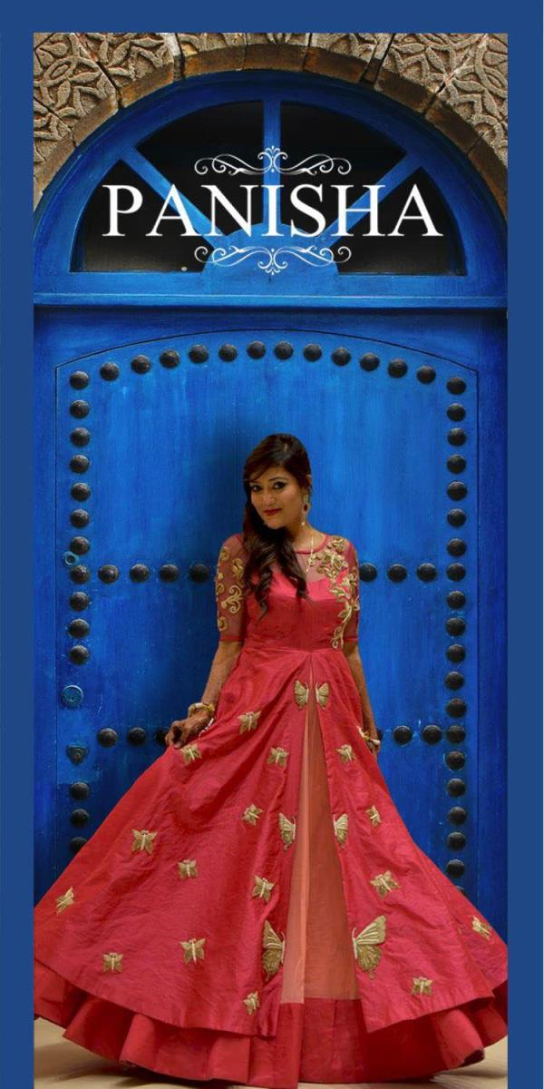 Designer Ethnic Wear Women Ethnic Wear Designer Kurtis  Designer Poshak's  Designer Bridal Wear  Designer Indowestern  Traditional Indian Ethnic Wear Traditional Indowestern  Indian Traditional Wear  Pink colour Indowestern with slit pattern and complete handwork butterfly pattern all over the designer Traditional Indowestern elbow sleeves with full handwork over it make your sangeet look more retro cum Traditional occasion