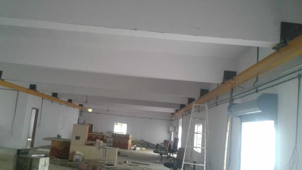 Underslung EOT Crane at Kansai Valves, Por, Vadodara. Span - 8 Mtr, Double Girder, Height - 4 Mtr, Length - 27 Mtr, Capacity - 2000 Kgs.  We are the leading EOT Crane and Pre Engineered Building Manufacturer in Vadodara, Gujarat.